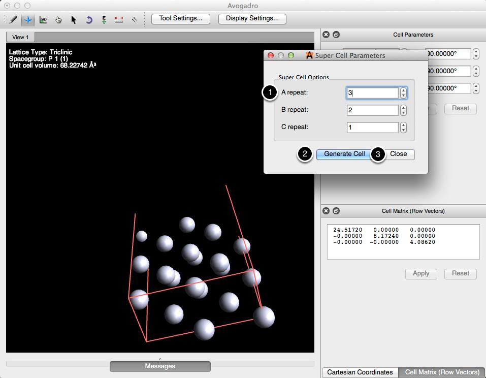 Super Cell Builder - Avogadro