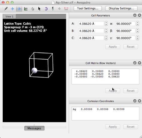 Building a Crystal Surface (Slab) - Avogadro