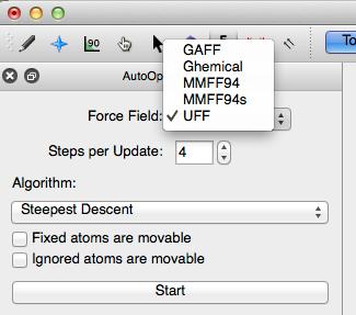 Auto Optimize Tool - Avogadro